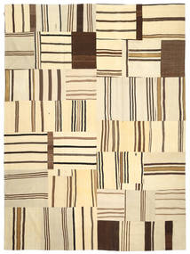 Kilim Patchwork Rug 290X397 Authentic  Modern Handwoven Beige/Dark Brown Large (Wool, Turkey)
