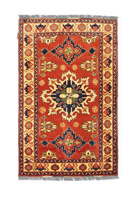 Afghan Kargahi Rug 99X159 Authentic  Oriental Handknotted Rust Red/Dark Purple (Wool, Afghanistan)