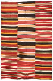 Kilim Patchwork Rug 195X300 Authentic  Modern Handwoven Rust Red/Dark Brown (Wool, Turkey)
