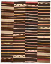 Kilim Patchwork Rug 246X300 Authentic  Modern Handwoven Dark Brown/Brown (Wool, Turkey)