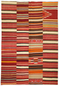 Kilim Patchwork Rug 245X360 Authentic  Modern Handwoven Dark Red/Rust Red (Wool, Turkey)