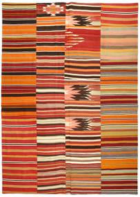 Kilim Patchwork Tappeto 254X357 Moderno Tessuto A Mano Rosso Scuro/Arancione Grandi (Lana, Turchia)