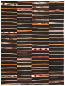Kelim Patchwork Matto 227X304 Moderni Käsinkudottu Musta (Villa, Turkki)