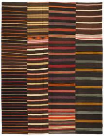 Kilim Patchwork Rug 233X307 Authentic  Modern Handwoven Dark Brown (Wool, Turkey)