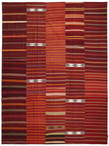 Kilim Patchwork Rug 300X403 Authentic  Modern Handwoven Dark Red Large (Wool, Turkey)
