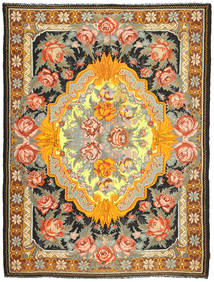 Rose Kelim Rug 225X297 Authentic  Oriental Handwoven Brown/Dark Grey (Wool, Moldova)