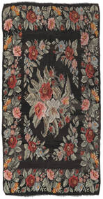 Rose Kelim Rug 171X325 Authentic  Oriental Handwoven Dark Grey/Olive Green (Wool, Moldova)
