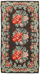 Rose Kelim Rug 171X314 Authentic  Oriental Handwoven Dark Grey/Pastel Green (Wool, Moldova)