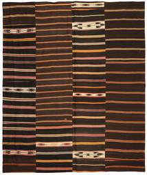 Kelim Patchwork Tæppe 250X300 Ægte Moderne Håndvævet Mørkebrun Stort (Uld, Tyrkiet)