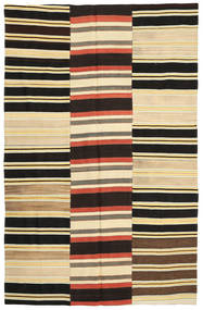 Kilim Patchwork Rug 184X292 Authentic  Modern Handwoven Black/Dark Beige (Wool, Turkey)