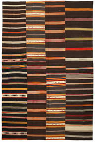 Kilim Patchwork Rug 234X352 Authentic  Modern Handwoven Dark Brown (Wool, Turkey)