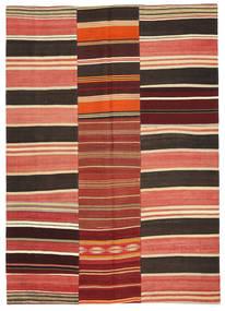 Kilim Patchwork Szőnyeg 161X227 Modern Kézi Szövésű Rozsdaszín/Sötétbarna (Gyapjú, Törökország)