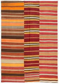 Kilim Patchwork Rug 156X230 Authentic  Modern Handwoven Rust Red/Dark Red (Wool, Turkey)