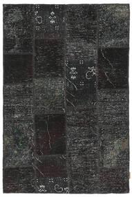 Patchwork Rug 120X186 Authentic  Modern Handknotted Black/Dark Grey (Wool, Turkey)