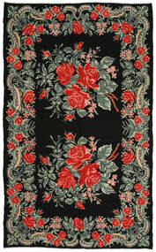 Rose Kelim Rug 186X306 Authentic  Oriental Handwoven Dark Grey/Rust Red (Wool, Moldova)