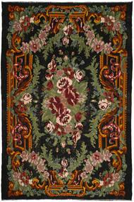 Rose Kelim Rug 245X364 Authentic  Oriental Handwoven Dark Grey/Dark Green (Wool, Moldova)