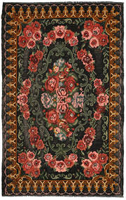 Kilim Moldavia Rug 200X315 Authentic  Oriental Handwoven Dark Grey/Dark Red (Wool, Moldova)