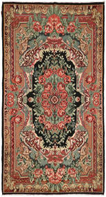 Rose Kelim Rug 216X396 Authentic  Oriental Handwoven Dark Red/Brown (Wool, Moldova)