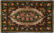 Kelim Rosen Teppich  233X380 Echter Orientalischer Handgewebter Dunkelgrün/Braun (Wolle, Moldawien)