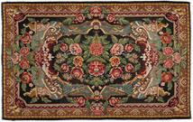 Kilim Rose Alfombra 220X345 Oriental Tejida A Mano Negro/Marrón Oscuro (Lana, Moldavia)