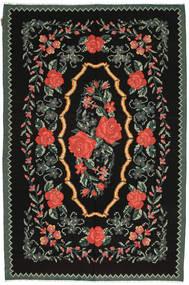 Ruusukelim Matto 176X263 Itämainen Käsinkudottu Musta/Tummanharmaa (Villa, Moldova)