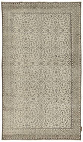 Colored Vintage Rug 118X206 Authentic  Modern Handknotted Light Grey/Olive Green (Wool, Turkey)