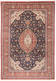 Ghom Silke Matta 240X348 Äkta Orientalisk Handknuten Mörkgrå/Roströd (Silke, Persien/Iran)