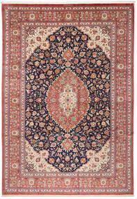 Ghom Silke Teppe 240X348 Ekte Orientalsk Håndknyttet Mørk Grå/Lysbrun (Silke, Persia/Iran)
