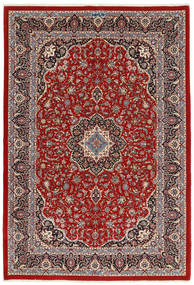 Ilam Sherkat Farsh Silke Matta 173X258 Äkta Orientalisk Handknuten Mörkröd/Mörkbrun (Ull/Silke, Persien/Iran)