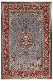 Isfahan Silkesvarp Matta 203X315 Äkta Orientalisk Handknuten Brun/Mörkbrun (Ull/Silke, Persien/Iran)