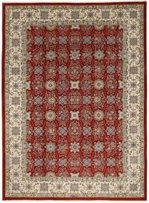 Ilam Sherkat Farsh Silkki Matto 250X348 Itämainen Käsinsolmittu Vaaleanruskea/Tummanpunainen Isot (Villa/Silkki, Persia/Iran)