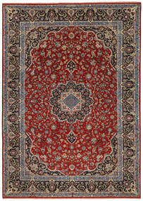 Ilam Sherkat Farsh Silk Rug 245X350 Authentic  Oriental Handknotted Dark Brown/Brown (Wool/Silk, Persia/Iran)