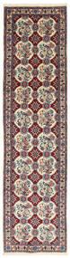 Varamin Tæppe 73X291 Ægte Orientalsk Håndknyttet Tæppeløber Mørkebrun/Brun (Uld, Persien/Iran)