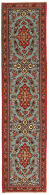 Ghom Kork/Soie Tapis 71X312 D'orient Fait Main Tapis Couloir Rouge Foncé/Marron Foncé (Laine/Soie, Perse/Iran)