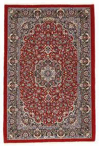 Ilam Sherkat Farsh Silke Matta 108X165 Äkta Orientalisk Handknuten Mörkröd/Brun (Ull/Silke, Persien/Iran)