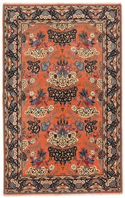 Ilam Sherkat Farsh Silk Rug 140X224 Authentic Oriental Handknotted Orange/Brown (Wool/Silk, Persia/Iran)