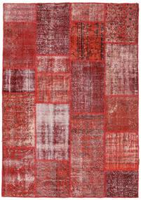 Patchwork Alfombra 160X230 Moderna Hecha A Mano Marrón/Rojo Oscuro (Lana, Turquía)