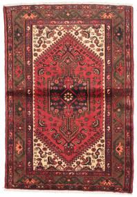 Hamadan Matto 95X143 Itämainen Käsinsolmittu Ruskea/Tummanpunainen (Villa, Persia/Iran)