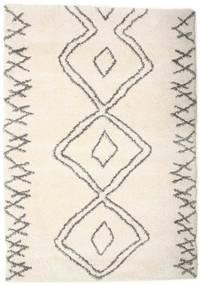 Berber Shaggy Massin Matto 160X230 Moderni Beige/Vaaleanharmaa ( Turkki)