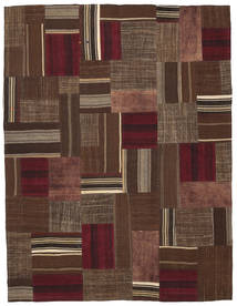 Kilim Patchwork Rug 185X239 Authentic  Modern Handwoven Dark Brown/Brown (Wool, Turkey)