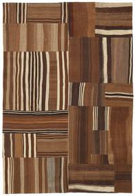 Kilim Patchwork Rug 159X237 Authentic  Modern Handwoven Brown/Dark Brown (Wool, Turkey)
