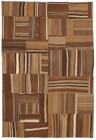 キリム パッチワーク 絨毯 165X224 モダン 手織り 茶/濃い茶色 (ウール, トルコ)