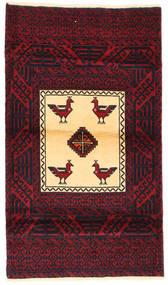 Balouch Szőnyeg 86X149 Keleti Csomózású Sötétpiros (Gyapjú, Perzsia/Irán)