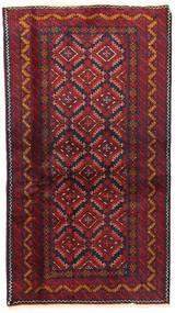 Beluch Matto 101X179 Itämainen Käsinsolmittu Tummanpunainen/Tummanvihreä (Villa, Persia/Iran)