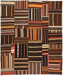 Kilim Patchwork Rug 248X303 Authentic  Modern Handwoven Dark Brown/Dark Red (Wool, Turkey)