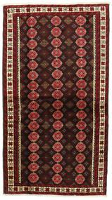 Beluch Vloerkleed 107X194 Echt Oosters Handgeknoopt Donkerrood (Wol, Perzië/Iran)