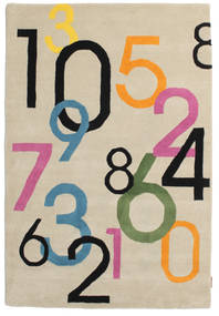 Lucky Numbers - Deschis Covor 120X180 Modern Bej/Gri Deschis (Lână, India