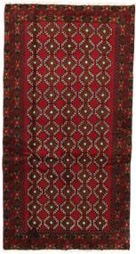 バルーチ 絨毯 101X185 オリエンタル 手織り 深紅色の (ウール, ペルシャ/イラン)
