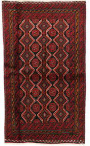Baluch Rug 101X170 Authentic  Oriental Handknotted Dark Red (Wool, Persia/Iran)