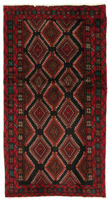 Baluch Rug 100X188 Authentic  Oriental Handknotted Dark Red/Crimson Red (Wool, Persia/Iran)